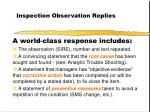inspection observation replies27