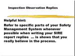 inspection observation replies30