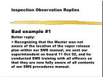 inspection observation replies32