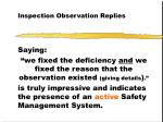 inspection observation replies41
