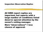inspection observation replies43