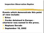 inspection observation replies50