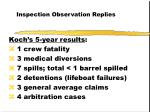 inspection observation replies56