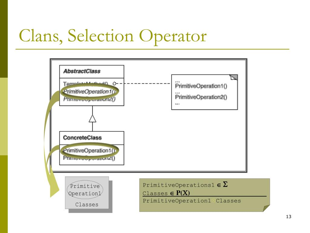Clans, Selection Operator