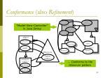 conformance also refinement
