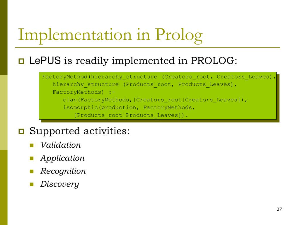 Implementation in Prolog