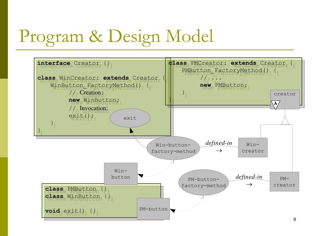 Program & Design Model