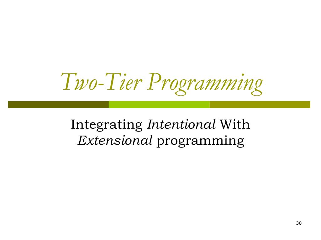 Two-Tier Programming