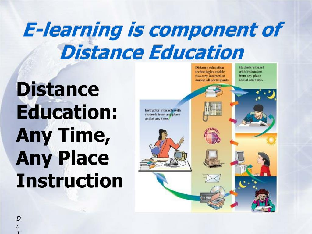 E-learning is component of Distance Education