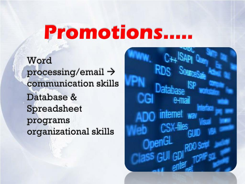 Promotions…..