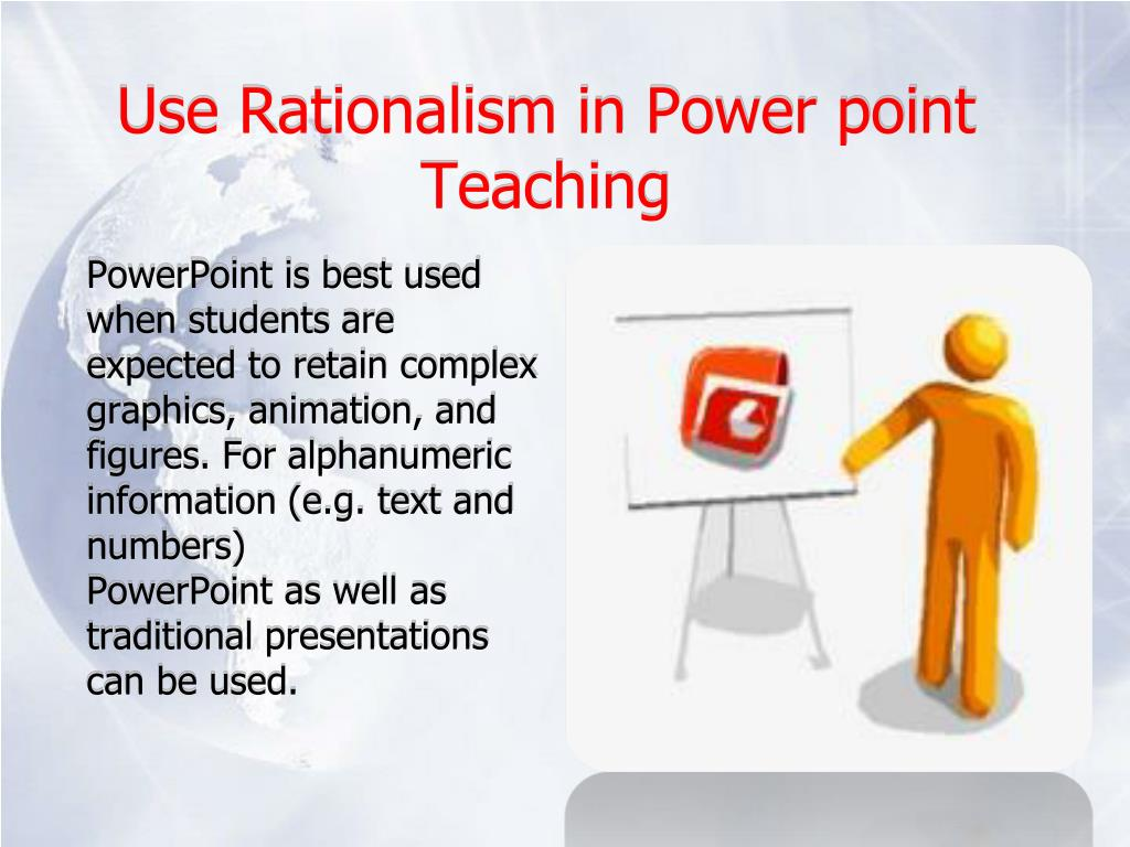 Use Rationalism in Power point Teaching