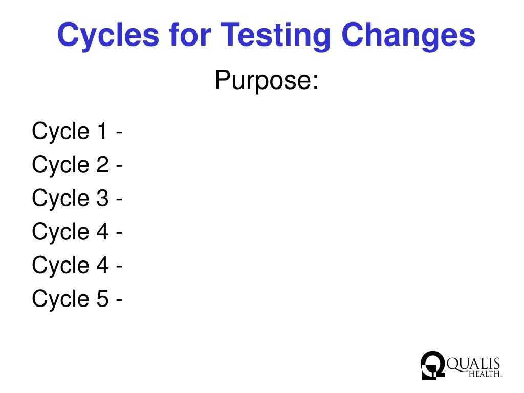 Cycles for Testing Changes