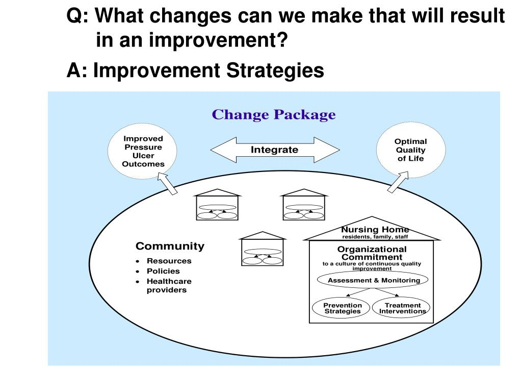 Q: What changes can we make that will result in an improvement?