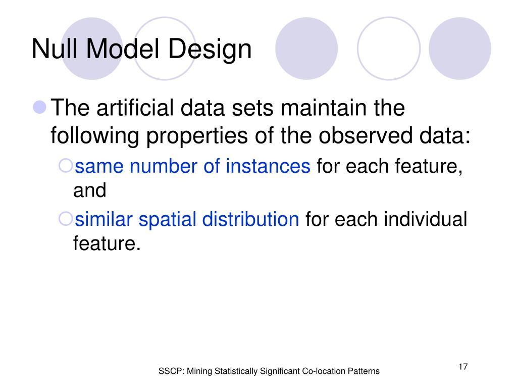 Null Model Design