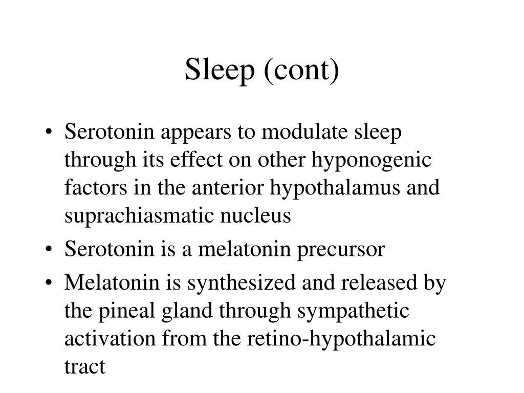 Sleep (cont)