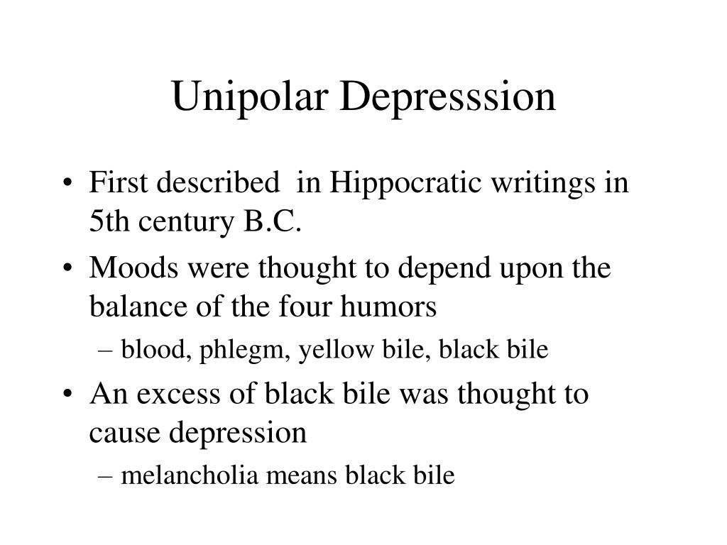 Unipolar Depresssion