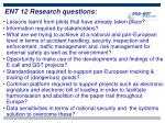 ent 12 research questions