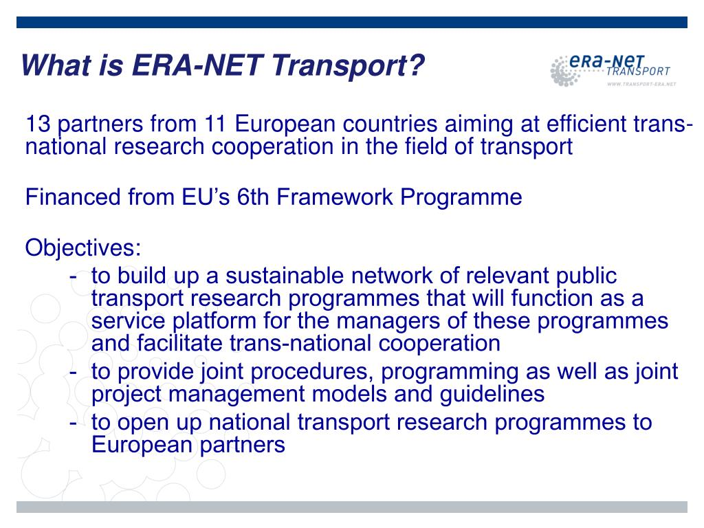 What is ERA-NET Transport