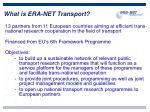 what is era net transport