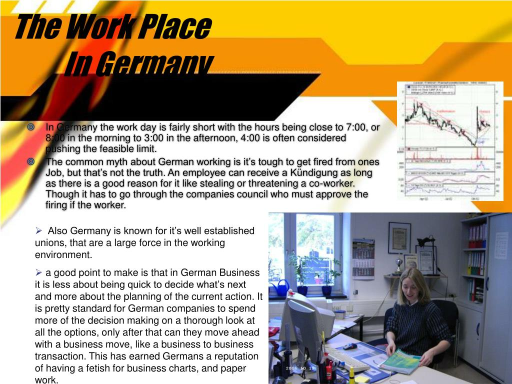 The Work Place In Germany