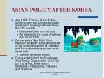 asian policy after korea50