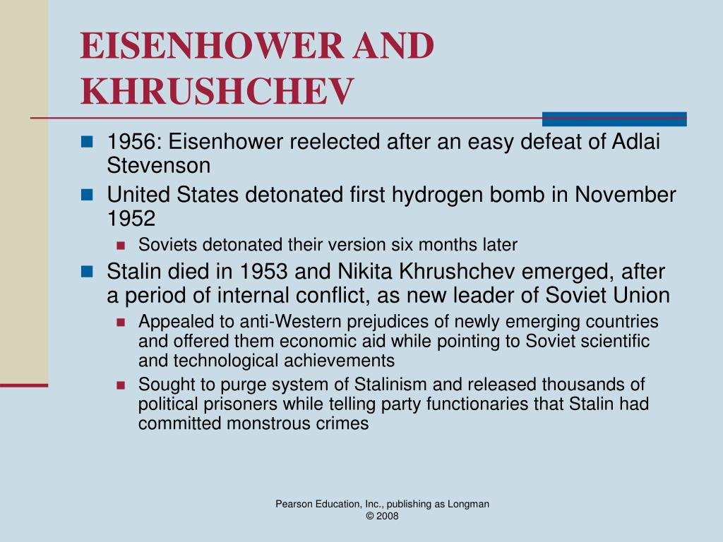 EISENHOWER AND KHRUSHCHEV