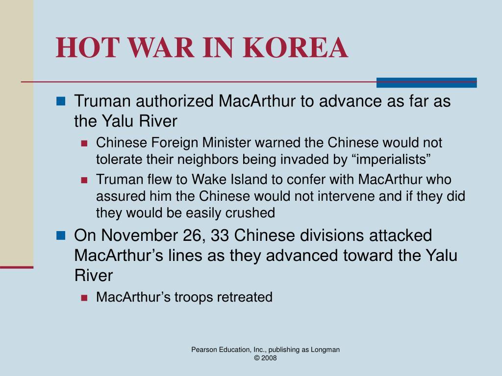HOT WAR IN KOREA