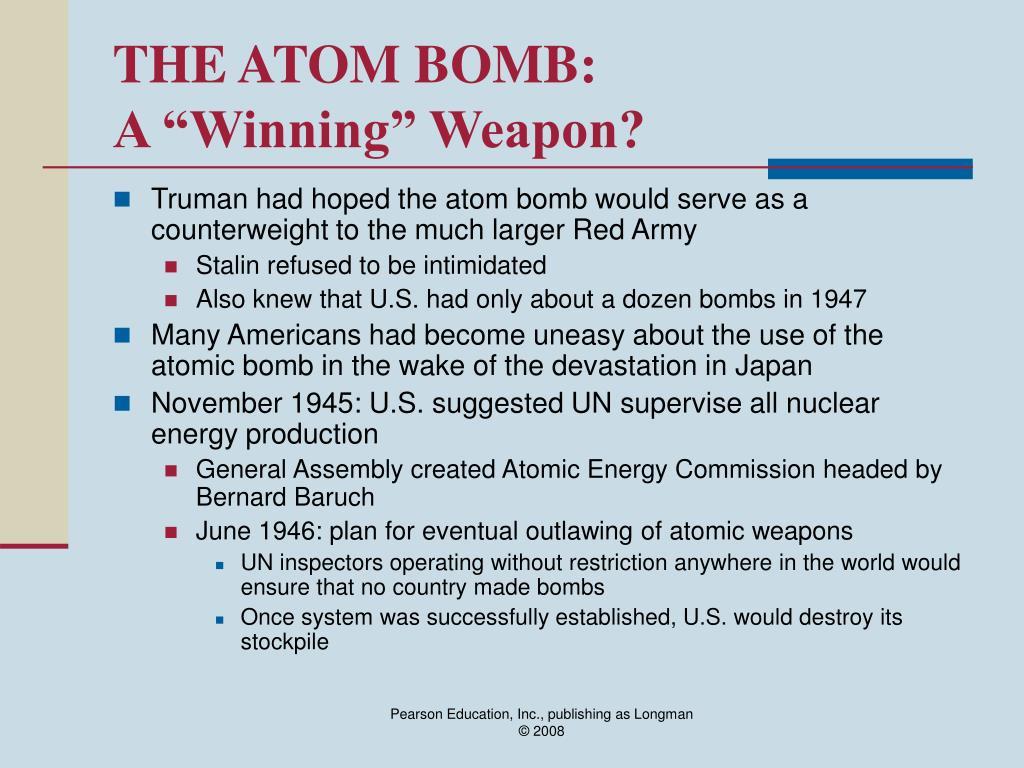 THE ATOM BOMB: