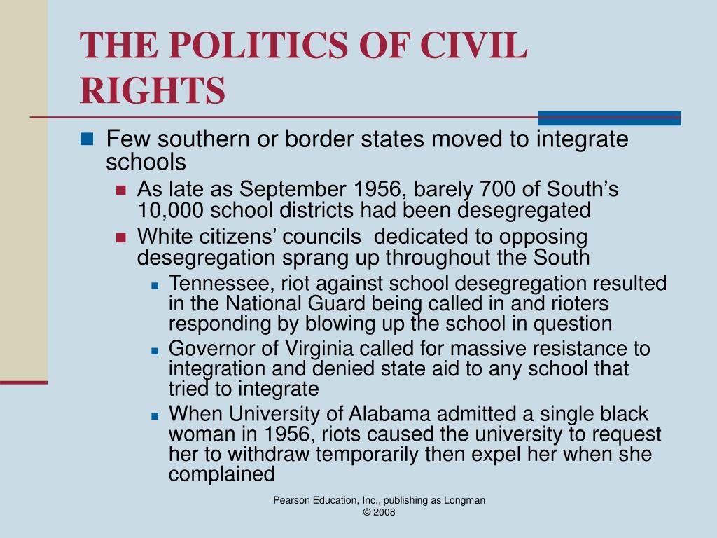 THE POLITICS OF CIVIL RIGHTS