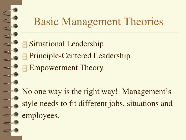 Basic management theories