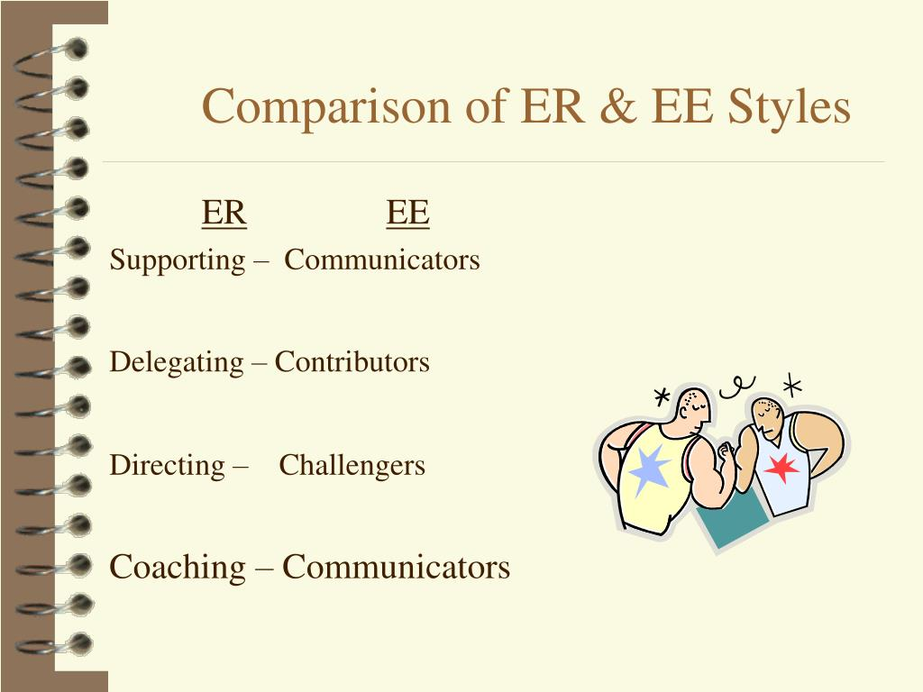 Comparison of ER & EE Styles