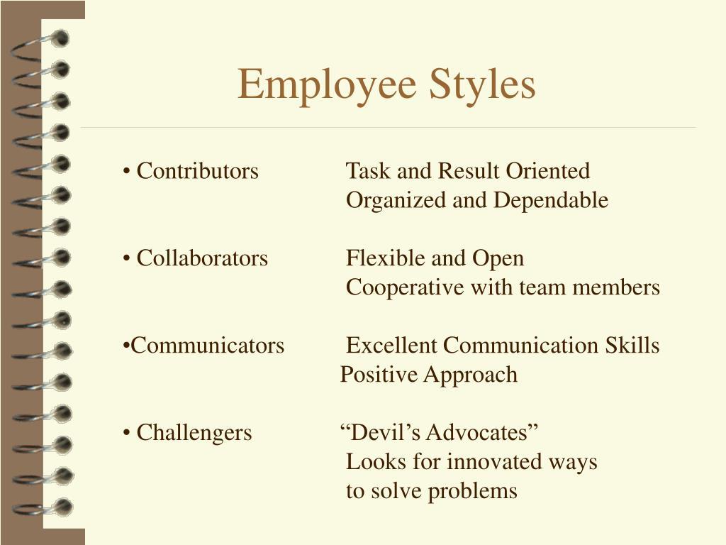 Employee Styles