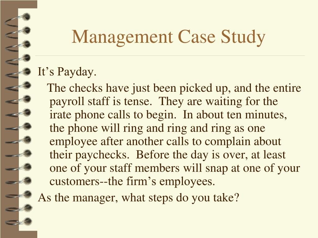 Management Case Study