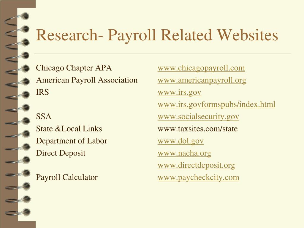 Research- Payroll Related Websites