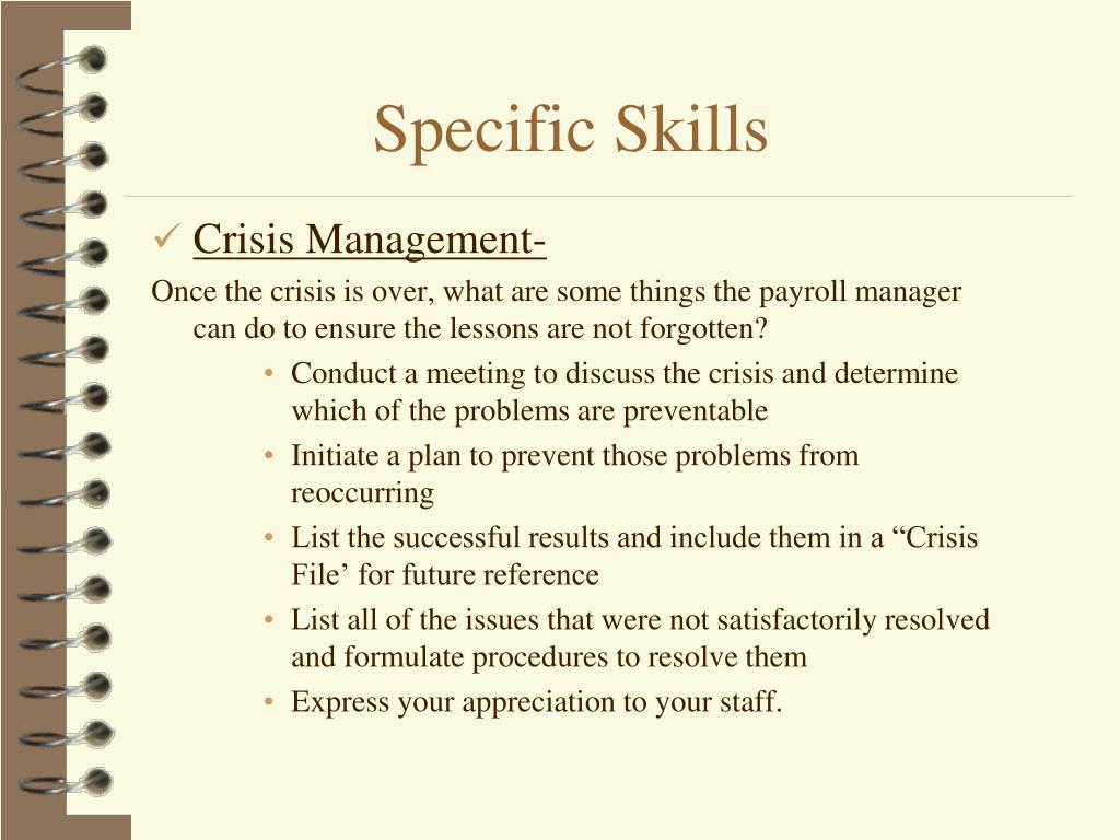 Crisis Management-