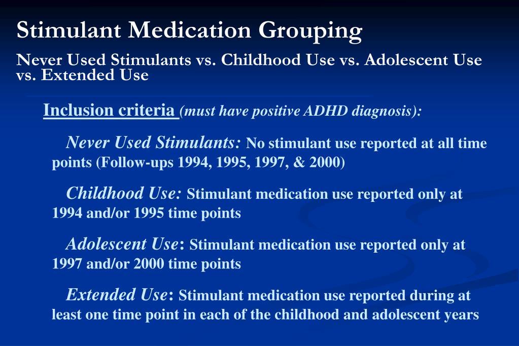 Stimulant Medication Grouping