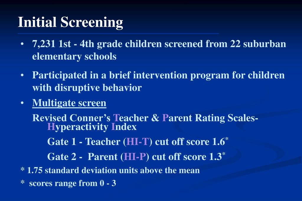 Initial Screening