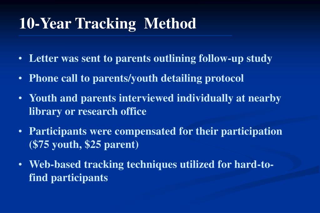 10-Year Tracking  Method