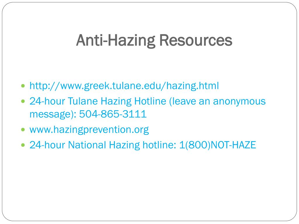 Anti-Hazing Resources