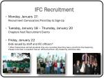 ifc recruitment