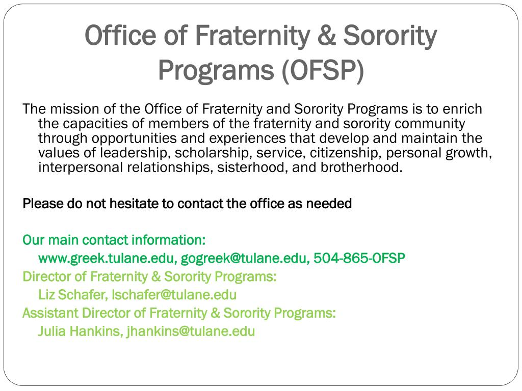 Office of Fraternity & Sorority