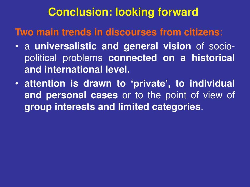 Conclusion: looking forward