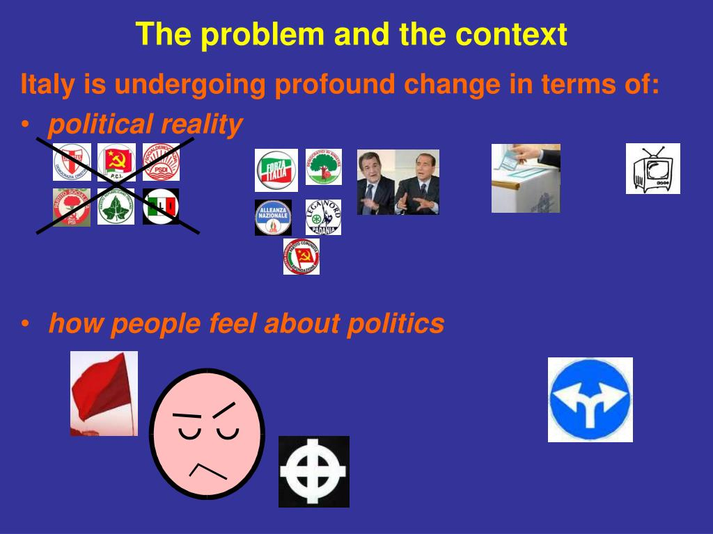 The problem and the context