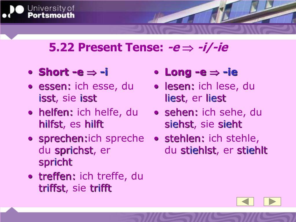 Short -e