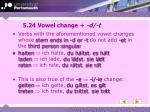 5 24 vowel change d t