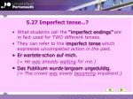 5 27 imperfect tense