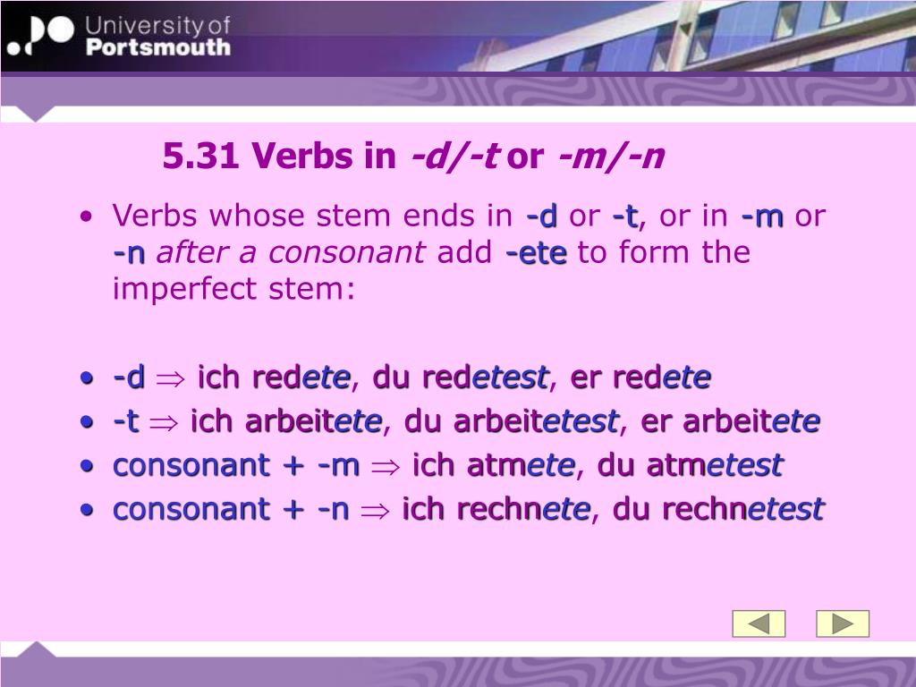 5.31 Verbs in