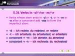 5 31 verbs in d t or m n