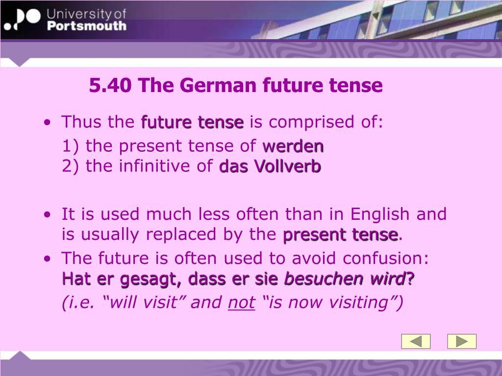 5.40 The German future tense
