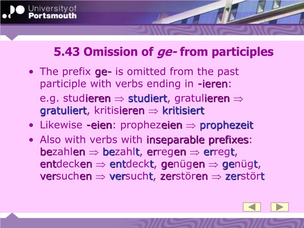 5.43 Omission of